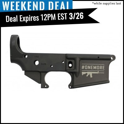 "PSA ""OneMore"" Stripped AR-15 Safe/Fire Engraved Lower Receiver"
