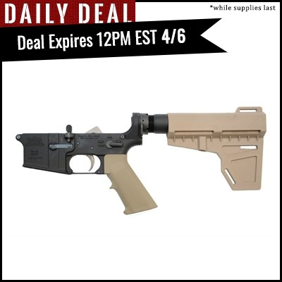 PSA AR-15 Complete Classic Shockwave EPT Pistol Lower, Flat Dark Earth - No Magazine - 5165448044