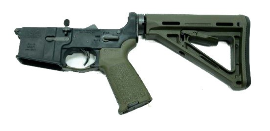 PSA AR-15 Complete Lower Magpul MOE Edition - Olive Drab Green, No Magazine - 46463