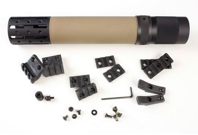 Hogue AR-15/M-16 Rifle Length OverMolded Forend W/ Accessories - Desert Tan