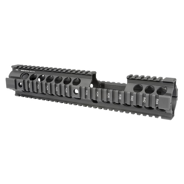 Midwest Industries Gen2 Two Piece Free Float Handguard, Extended Length Carbine, Black ‒ MCTAR-20XG2